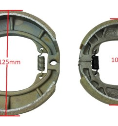 chinese scooter rear drum brake shoes 50cc 70cc 90cc 110cc 125cc gy6 moped sunl  [ 1200 x 656 Pixel ]