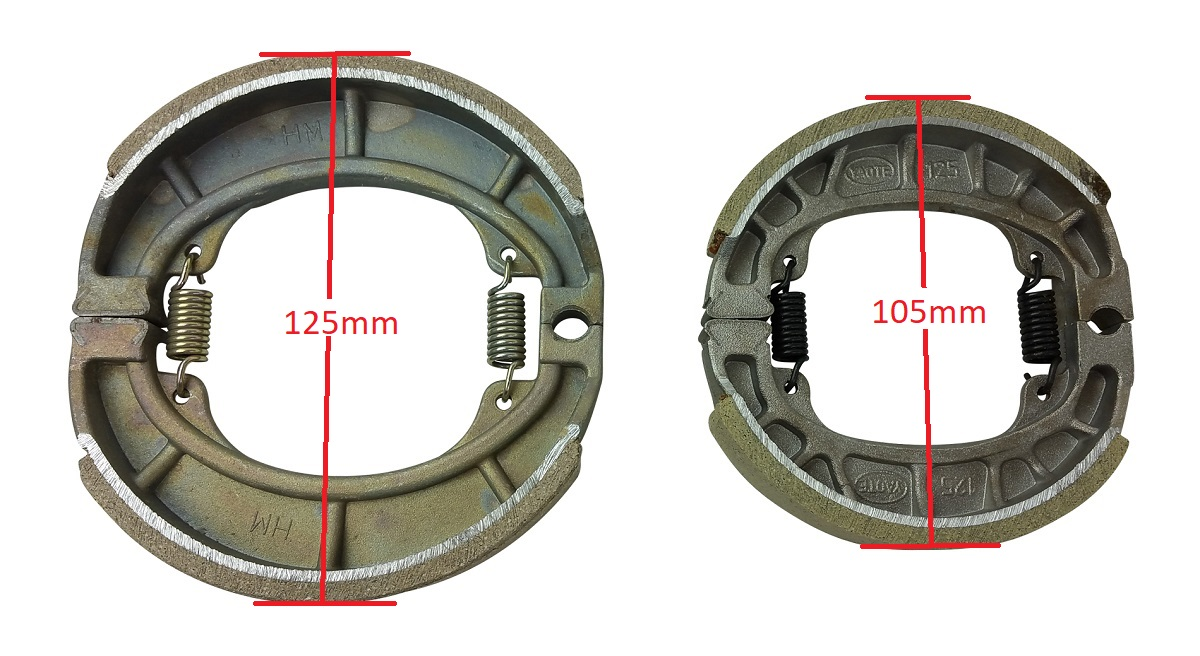 hight resolution of chinese scooter rear drum brake shoes 50cc 70cc 90cc 110cc 125cc gy6 moped sunl