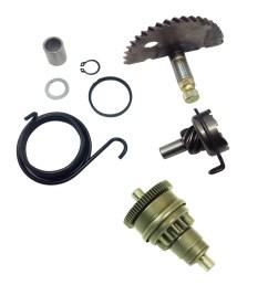 gy6 49cc 50cc kick start gear kit starter motor clutch gear bendix scooter moped [ 1600 x 1600 Pixel ]