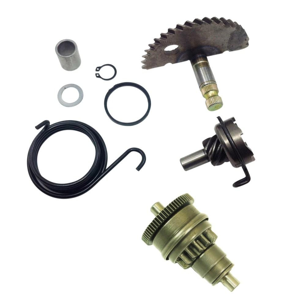 medium resolution of gy6 49cc 50cc kick start gear kit starter motor clutch gear bendix scooter moped