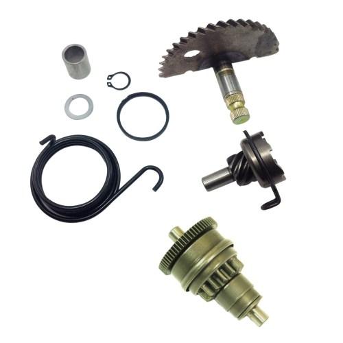 small resolution of gy6 49cc 50cc kick start gear kit starter motor clutch gear bendix scooter moped
