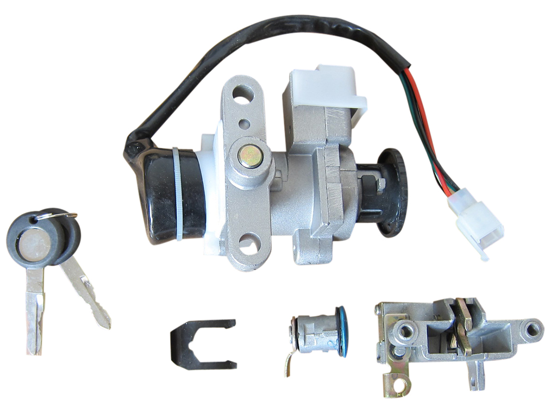 taotao 50 ignition wiring diagram ladder braid lock key switch set chinese scooter gy6 4 stroke