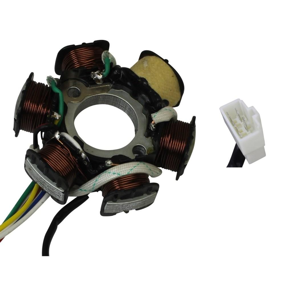medium resolution of stator 6 coil 5 wire 50cc 70cc 90cc 110cc 125cc honda chinese atv motorcycle
