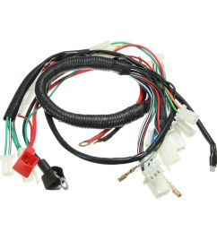 wiring harness 110cc atv automatic engine 52fm hawk sunl dune buggy  [ 1200 x 1200 Pixel ]