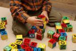 boy with blocks