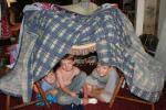 children making a fort