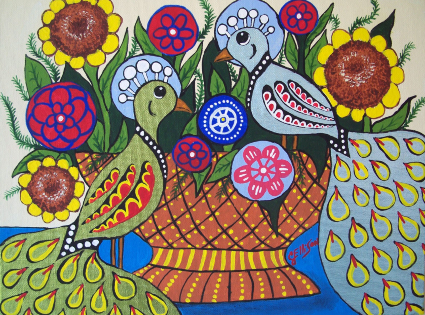 Folk Art Paintings  United Folk Artists Gallery