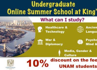 Undergraduate Online Summer School at King's College London