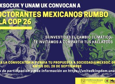 Doctorantes mexicanos rumbo a la COP 26