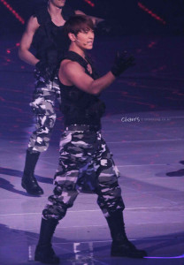 Chansung with 2PM performing at 2010 KBS Gayo Daejun.