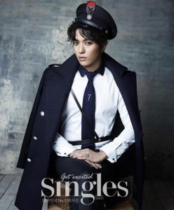 CNBlue's Yonghwa in Singles Magazine.