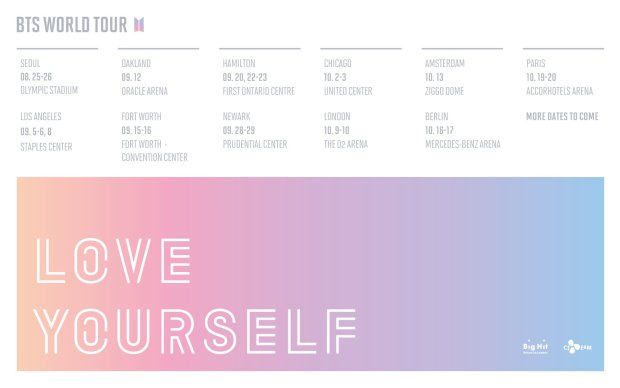 BTS, World Tour, Love Yourself, 2018