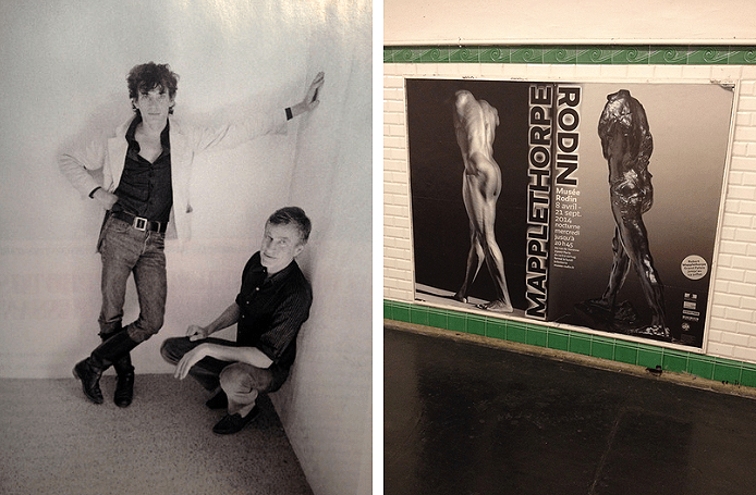 Left: Robert Mapplethorpe with Sam Wagstaff.