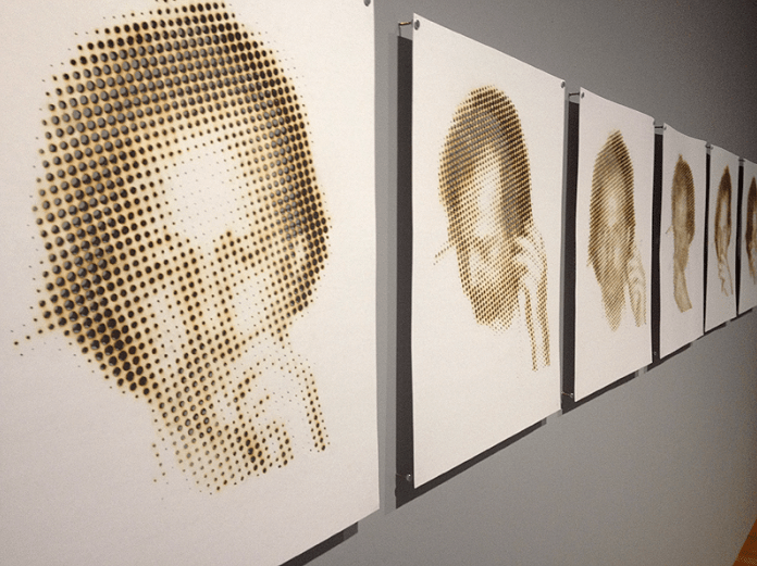 Above: Oscar Munoz, 'Photographies'.