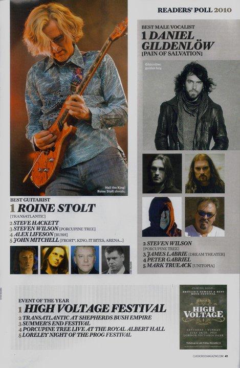 "Mark Trueack has been given the honour of winning ""Best Progressive Rock Indie Vocalist"" at 2009"