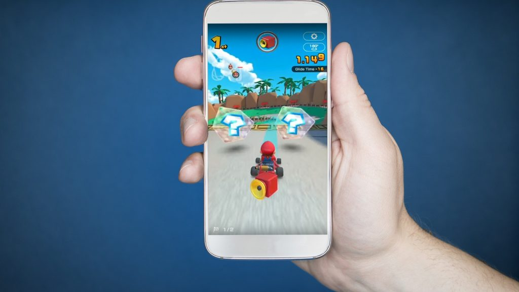Mario Kart Tour App on a Smartphone