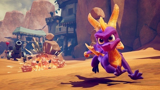 Spyro races onto the Nintendo Switch with his Reignited Trilogy.