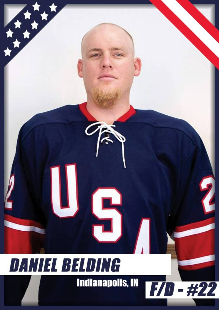 United States Blind Hockey Daniel Belding