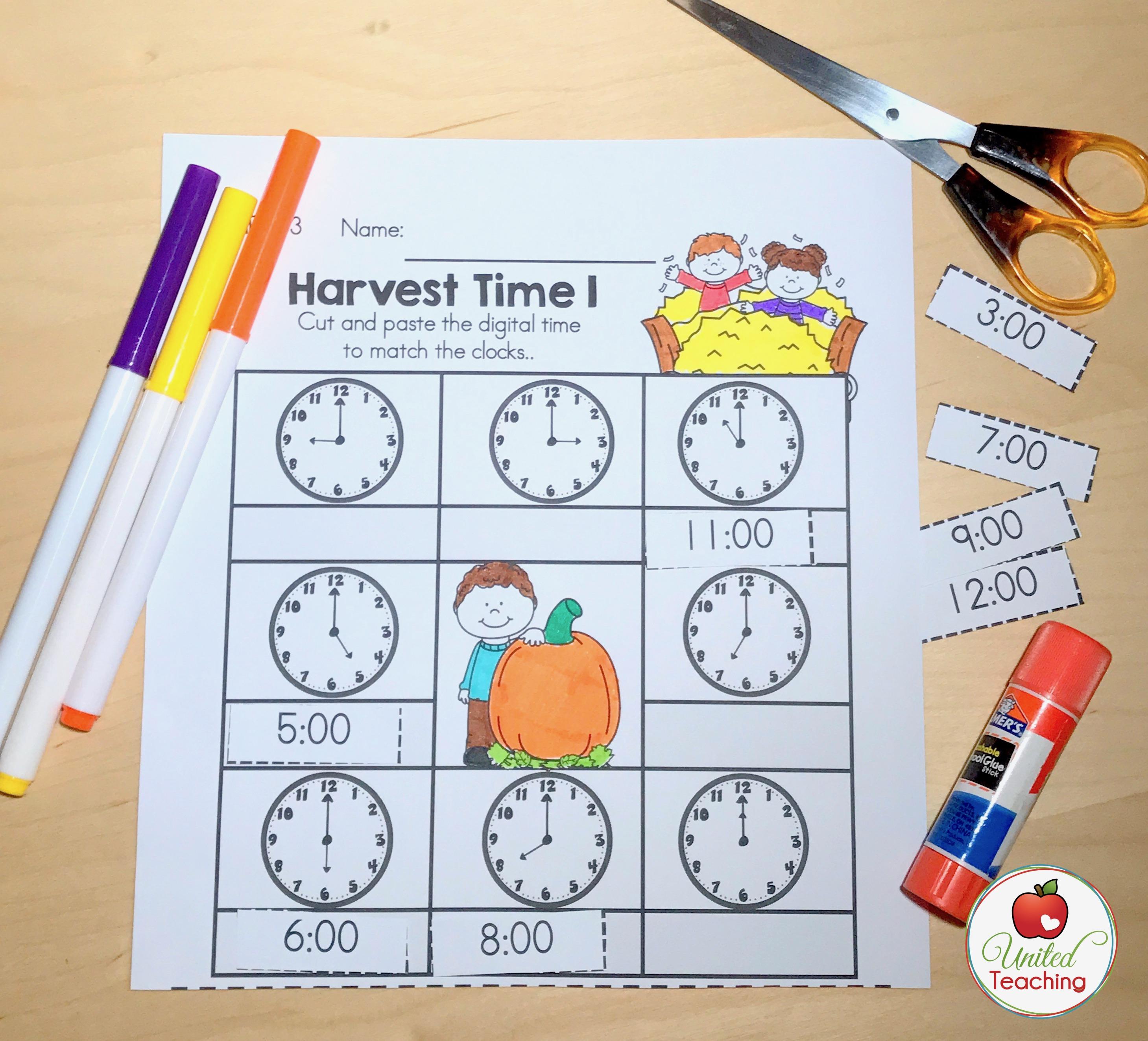 Autumn No Prep Kindergarten Packets