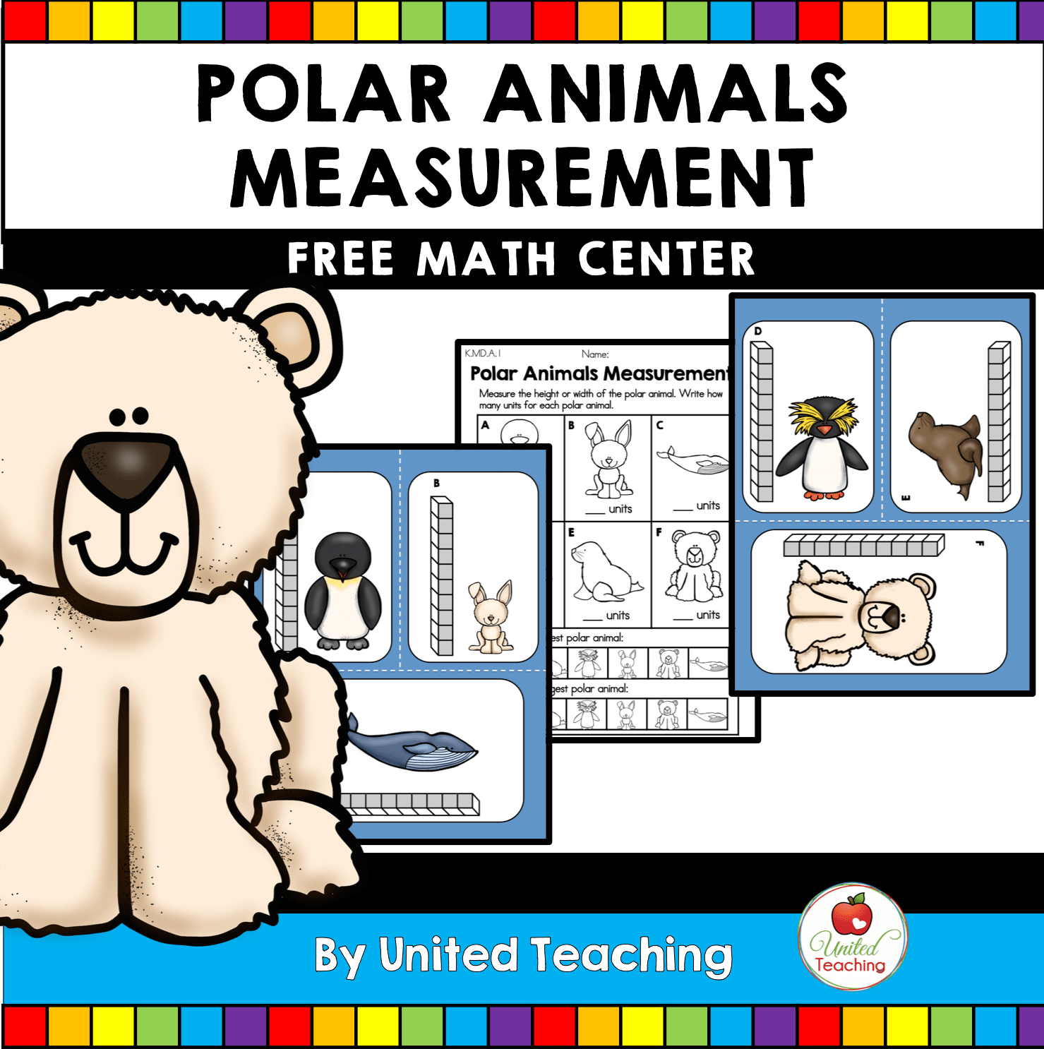 Polar Animals Measurement Math Center