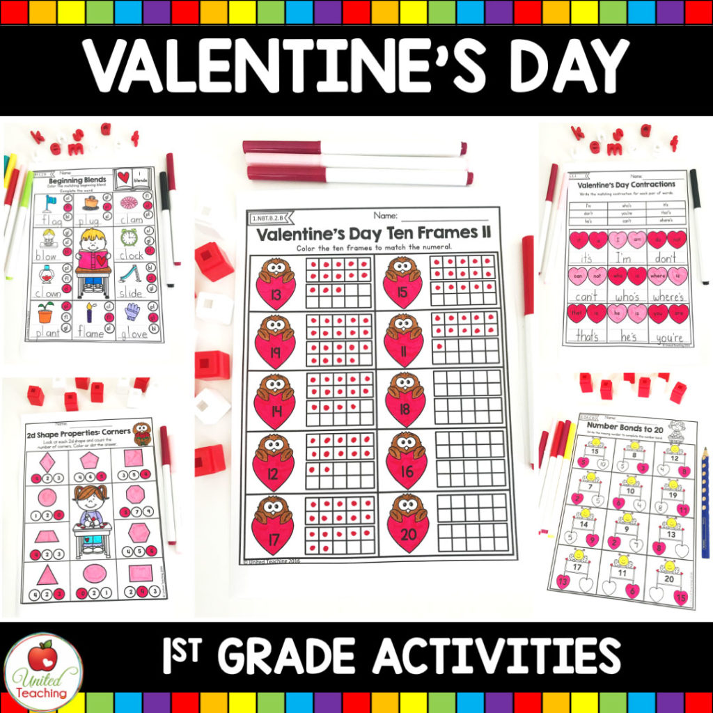 hight resolution of Valentine's Day Math and Literacy 1st Grade No Prep Activities