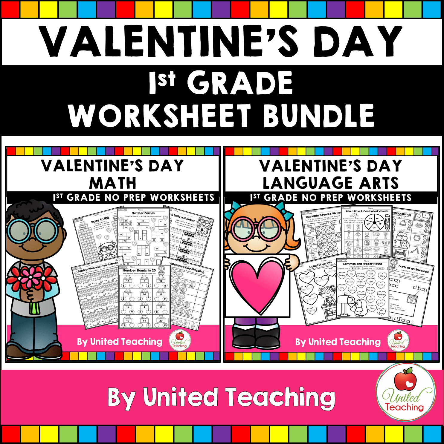 hight resolution of 1st Grade Valentine Math Worksheets   Printable Worksheets and Activities  for Teachers