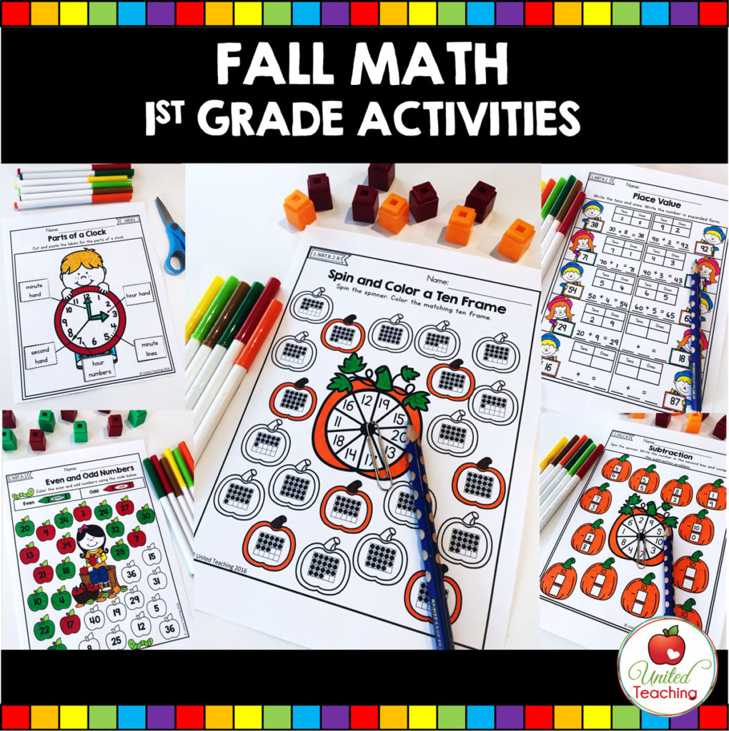 hight resolution of FALL MATH ACTIVITIES (1ST GRADE) - United Teaching