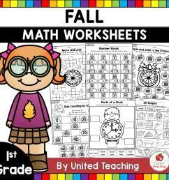 Fall Math Activities (1st Grade) - United Teaching [ 1400 x 1400 Pixel ]