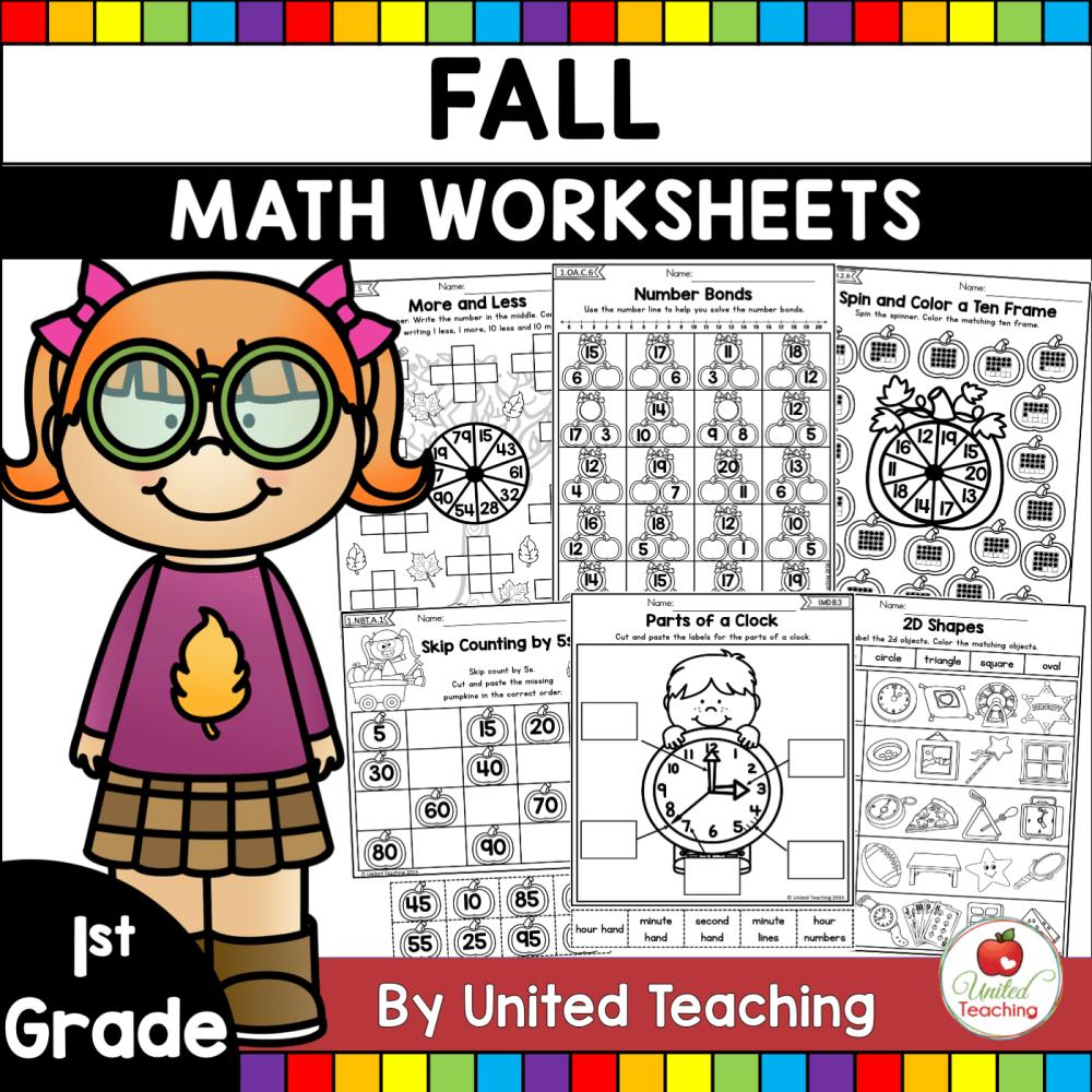 medium resolution of Fall Math Activities (1st Grade) - United Teaching