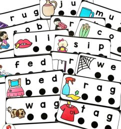 CVC Words Blend and Read Cards and Activities - [ 1024 x 768 Pixel ]
