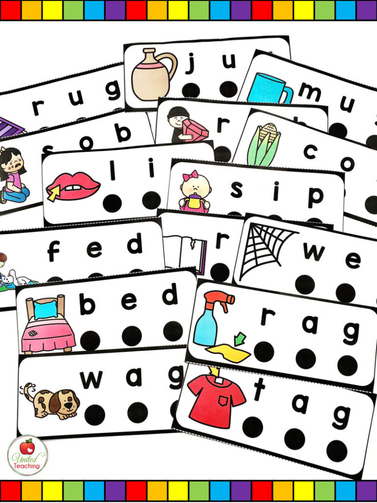 hight resolution of CVC Words Blend and Read Cards and Activities -