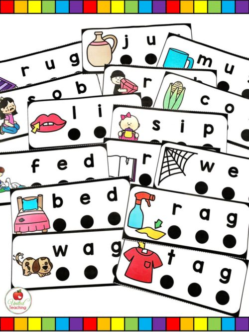 small resolution of CVC Words Blend and Read Cards and Activities -