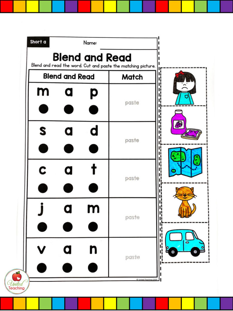 medium resolution of CVC Words Blend and Read Cards and Activities -