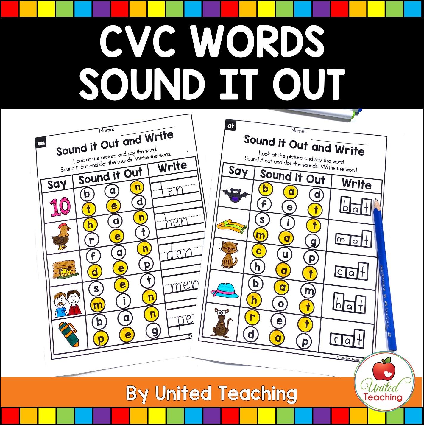 Cvc Words Sound It Out
