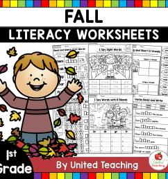 Fall Literacy Activities (1st Grade) - United Teaching [ 1400 x 1400 Pixel ]