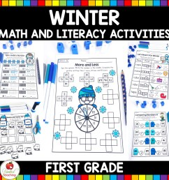 Winter Math and Literacy 1st Grade No Prep Activities [ 1600 x 1600 Pixel ]