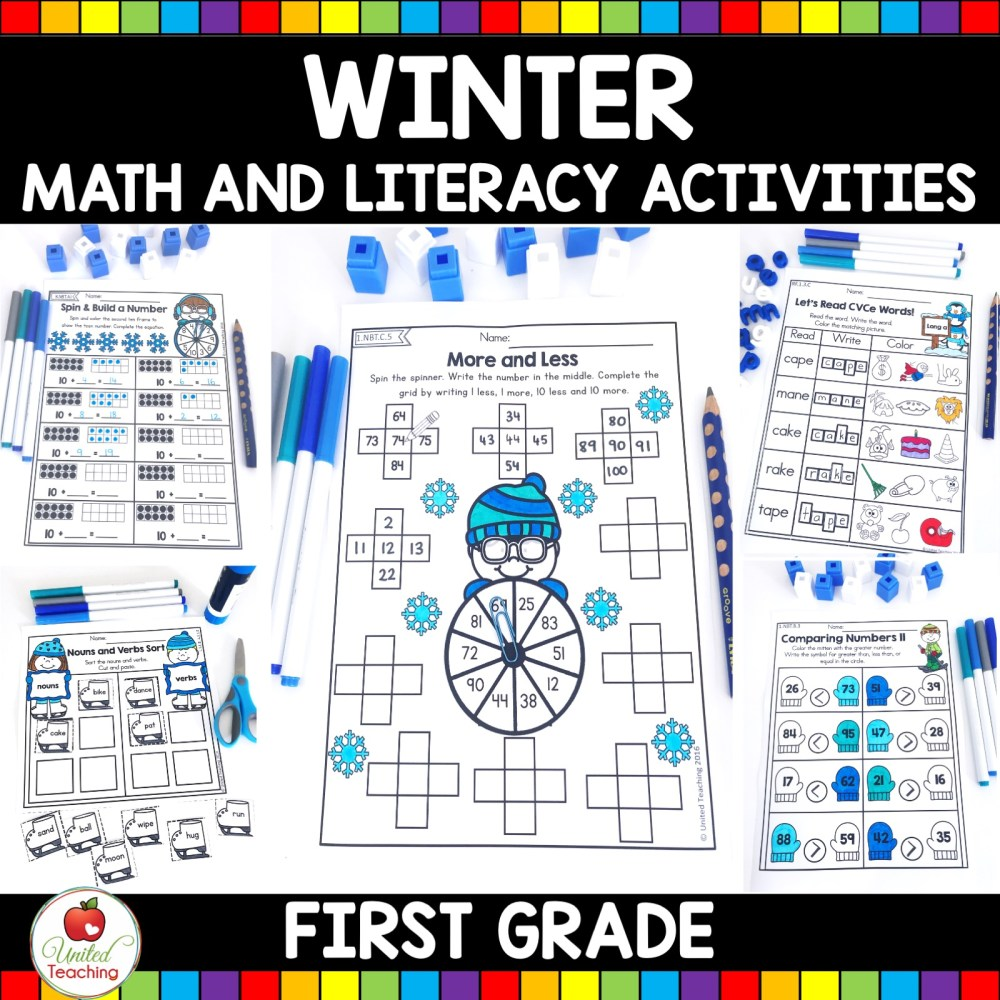 medium resolution of Winter Math and Literacy 1st Grade No Prep Activities