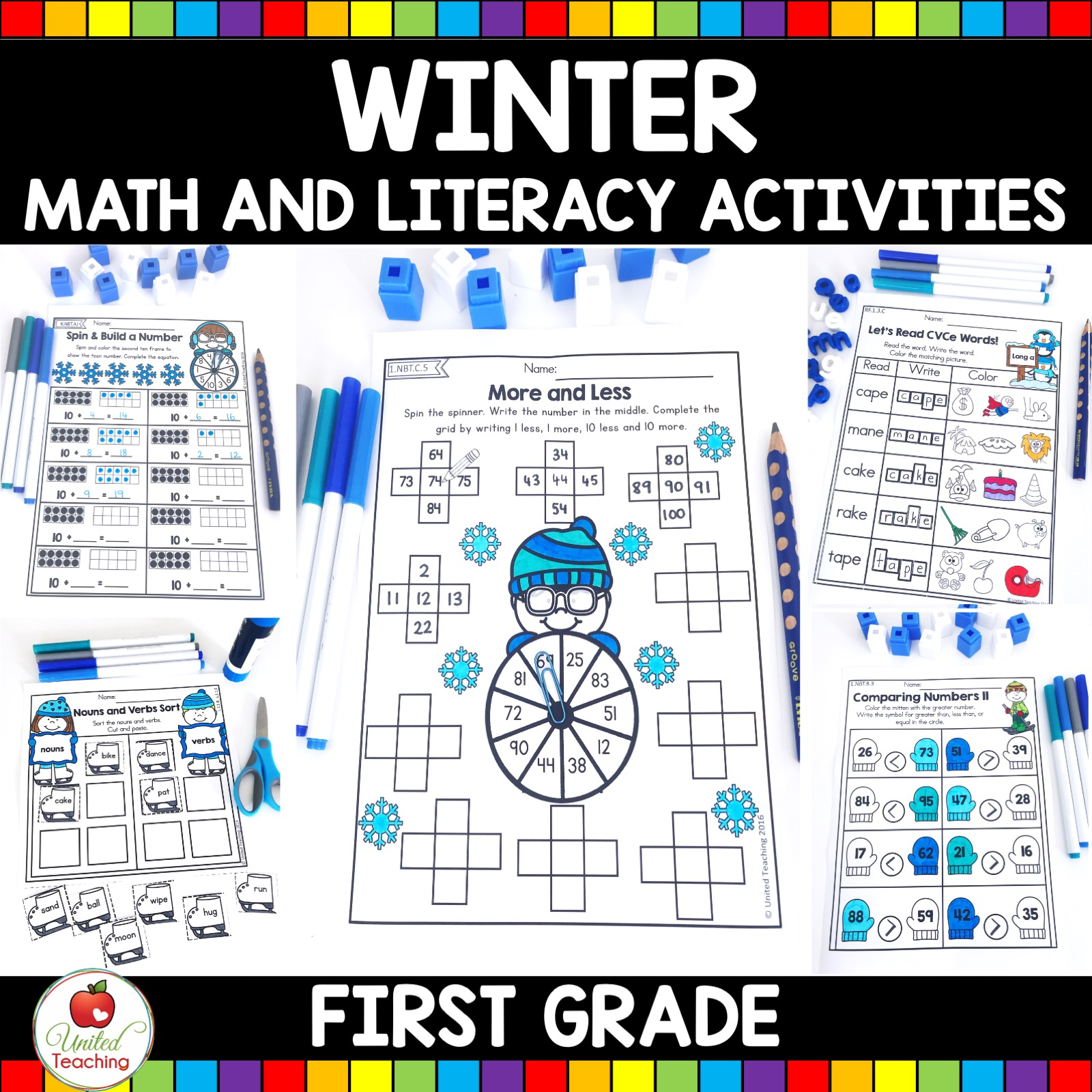 hight resolution of Winter Math and Literacy 1st Grade No Prep Activities