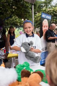 Art Walk participants enjoyed the opportunity to build bears for children enrolled in United Way's ReadingPal program.