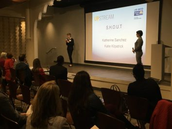 UNF students Katie Kilpatrick and Katherine Sanchez won second place for Project S.H.O.U.T. in United Way of Northeast Florida's inaugural Upstream initiative.