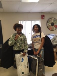 Sandalwood High School students received college starter kits sponsored by TD Bank and PTSA.