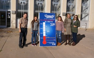 UW Youth Team Raises Thermometer