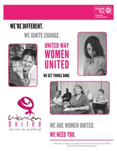 Front page of Women United 2019 flyer