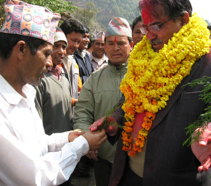 prachanda campaign trail nepal constituent assembly elections
