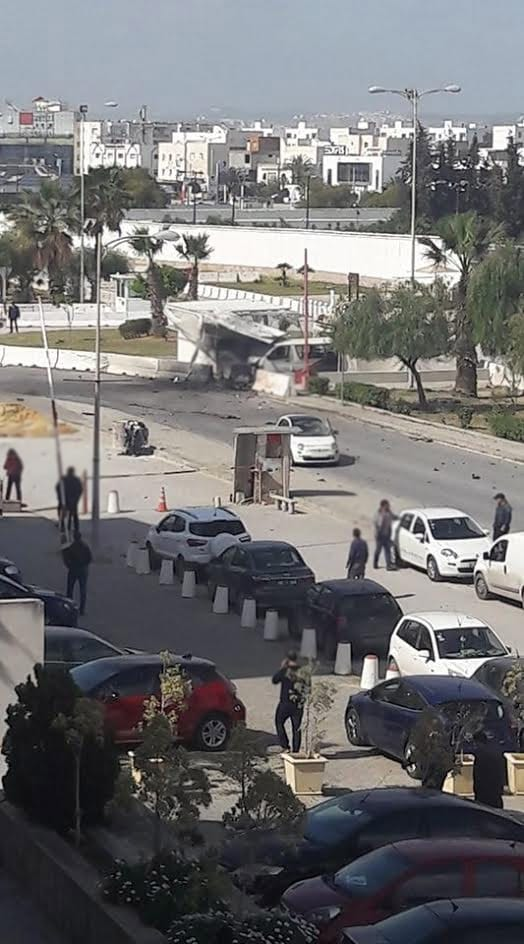 Terrorist blew himself up near the US Embassy (Photos)