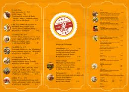 Professional menu card design