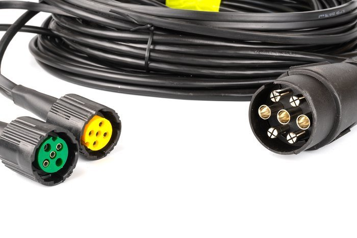Wiring harness for light trailers 3015 bajonet 5 pin plus