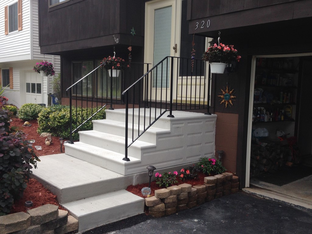 unit step precast concrete and wrought