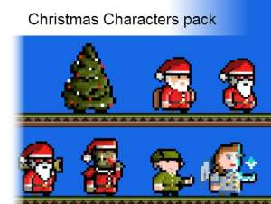2D Christmas Characters Pack for free (unityassets4free)