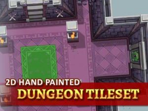 2D Hand Painted – Dungeon Tileset